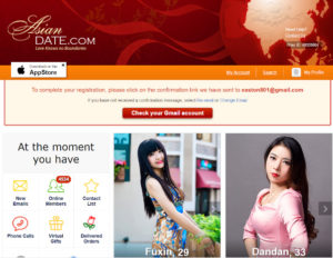 AsianBeauties.com main page