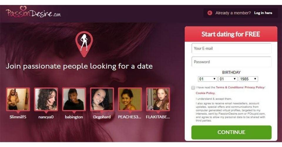 Passiondesire.com homepage