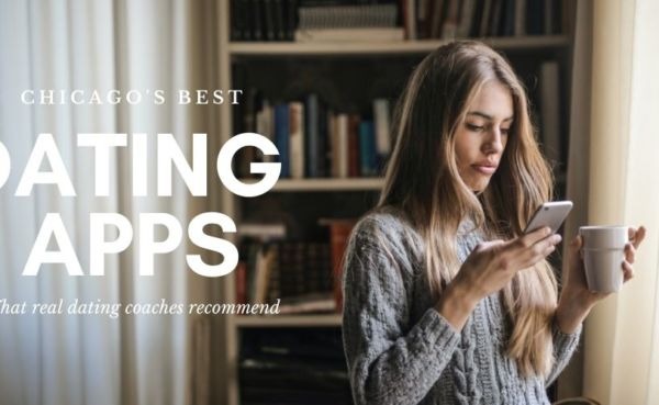 Woman checking out the best dating apps in Chicago during the day