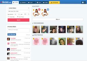 XSocial website design