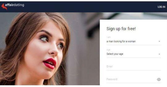 Homepage for affairdating.com