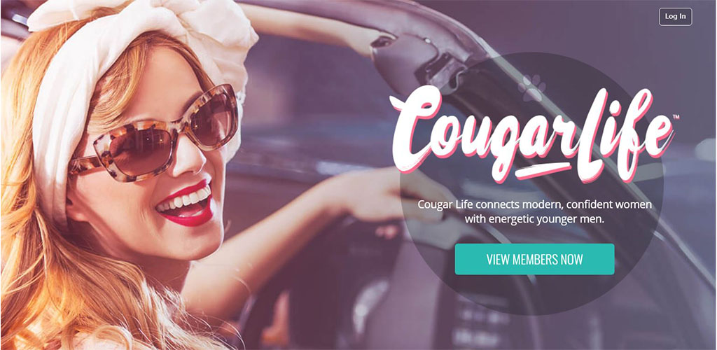 Homepage of the best cougar dating app in Australia
