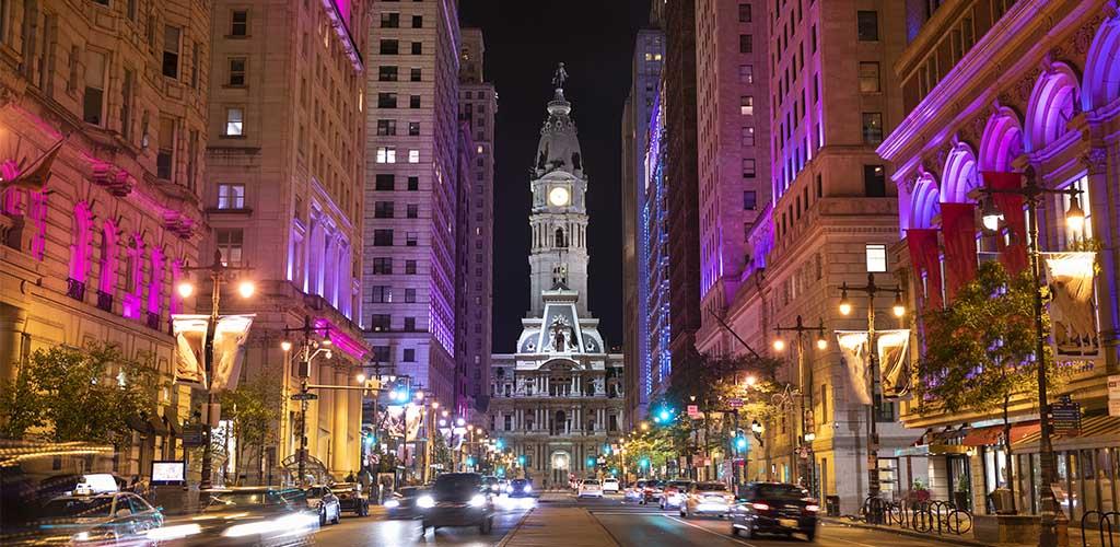 View of downtown Philadelphia
