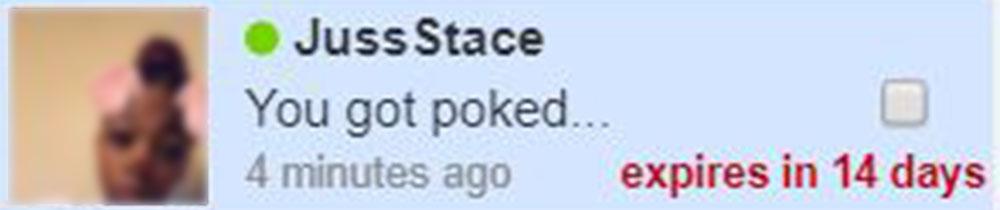 A member poking us on Fucknow.com