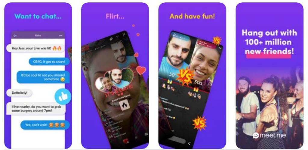 Screenshots of MeetMe