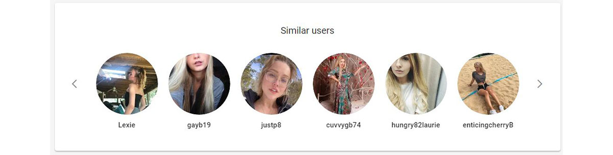 The suggested similar users