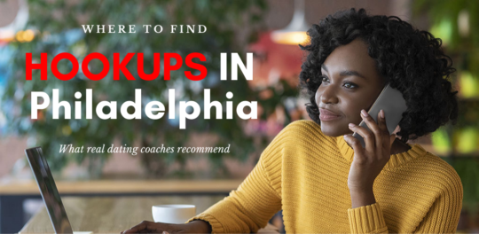 A girl working at a cafe while looking for Philadelphia hookups