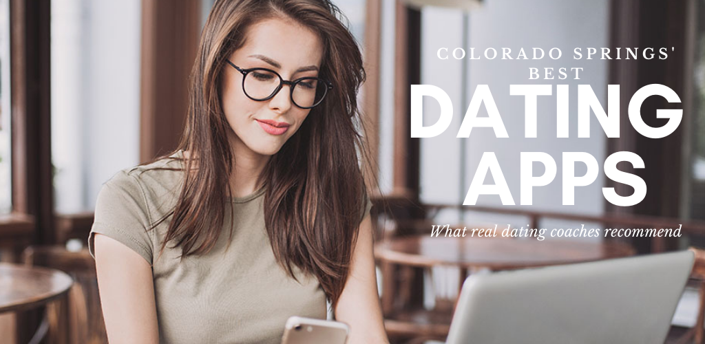 A beautiful woman trying out the best dating apps and sites in Colorado Springs while at a cafe