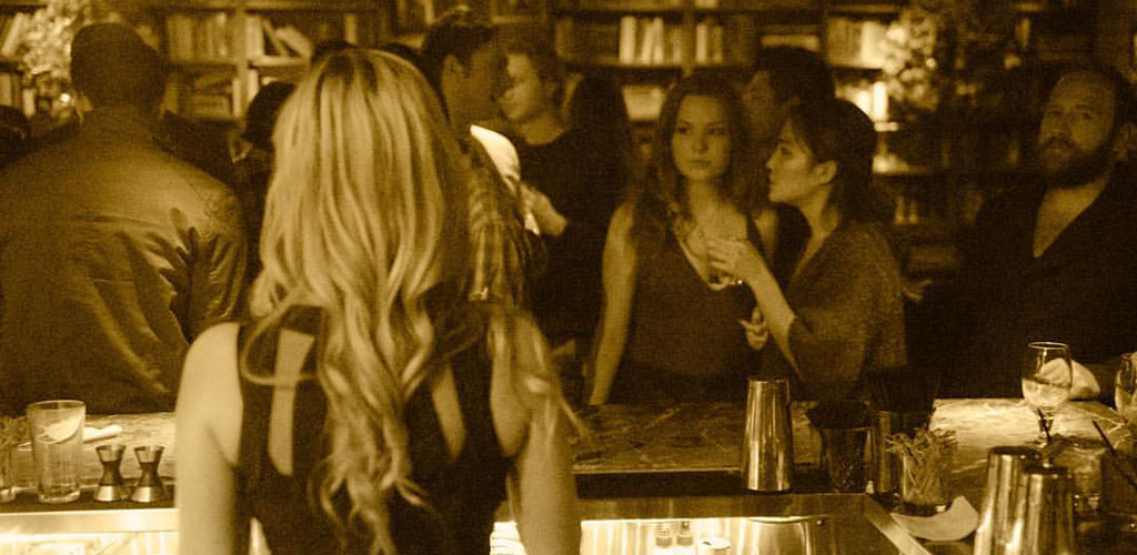 Bookworm women in Los Angeles California hang out at Library Bar