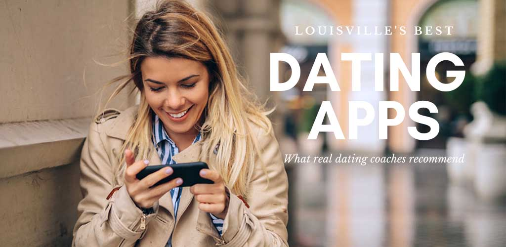 Pretty girl texting someone she met on the best dating apps and sites in Louisville