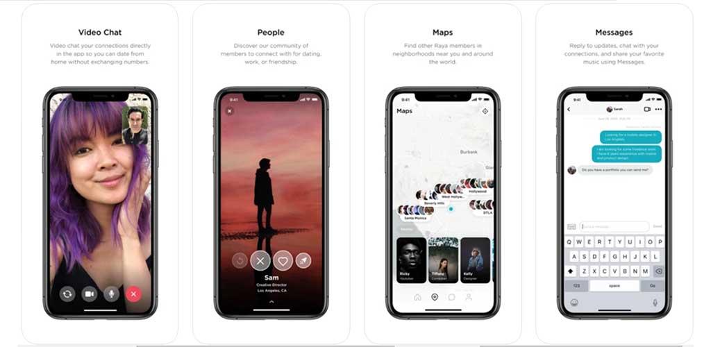 Raya app features
