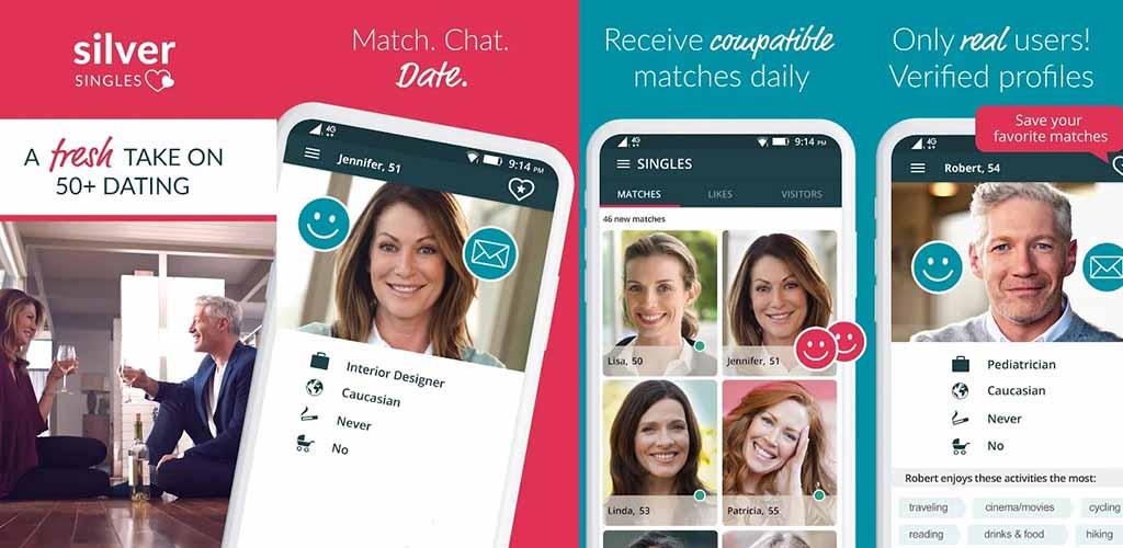 Silver Singles app screenshots
