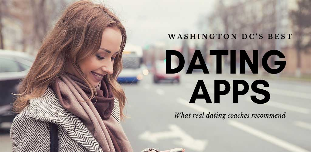 A girl texting someone she met on the best dating apps and sites in Washington DC