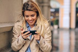 Louisville Kentucky dating app being used by blonde woman