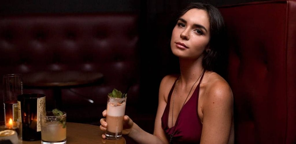 A hot Los Angeles cougar enjoying a drink at Neat