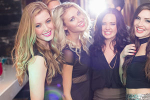 Several Fresno California women at a hookup bar