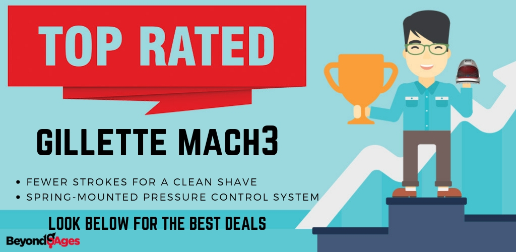 Gillette Mach 3 is the top rated disposable razor