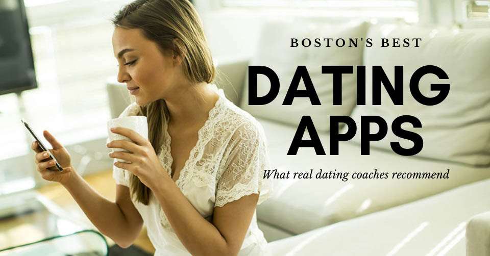 A woman browsing her phone for the best dating apps in Boston