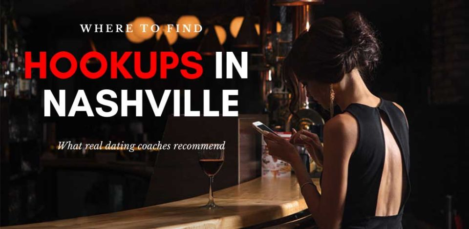 A woman looking for Nashville hookups online while at an upscale bar