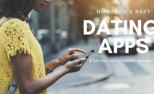 A woman trying out the top dating apps in Houston while out and about