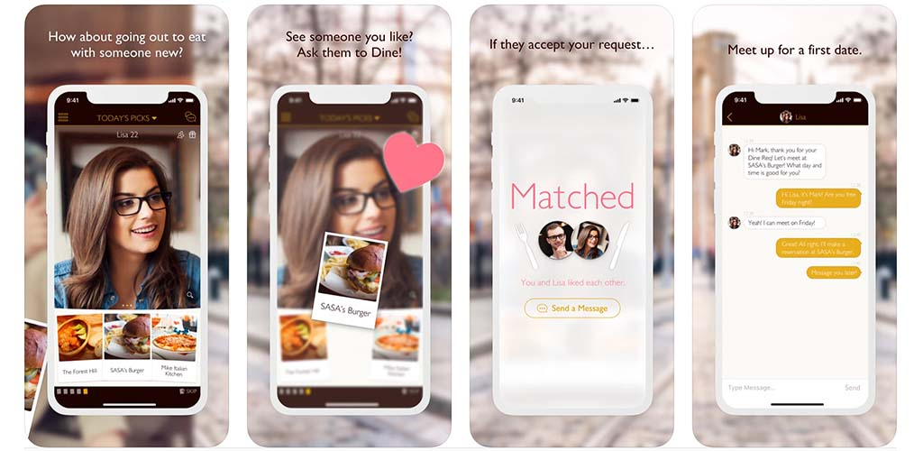 What the Dine dating app looks like in Boston