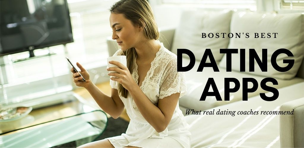 Woman in Boston Massachusetts trying a dating app