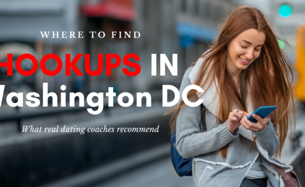 A woman checking out some ways to find Washington DC hookups online