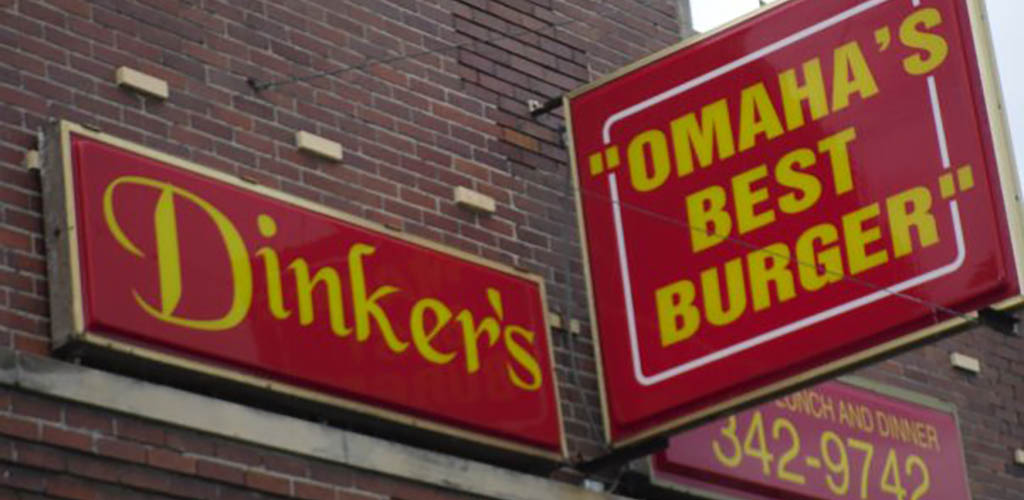 The signage at Dinker's Bar