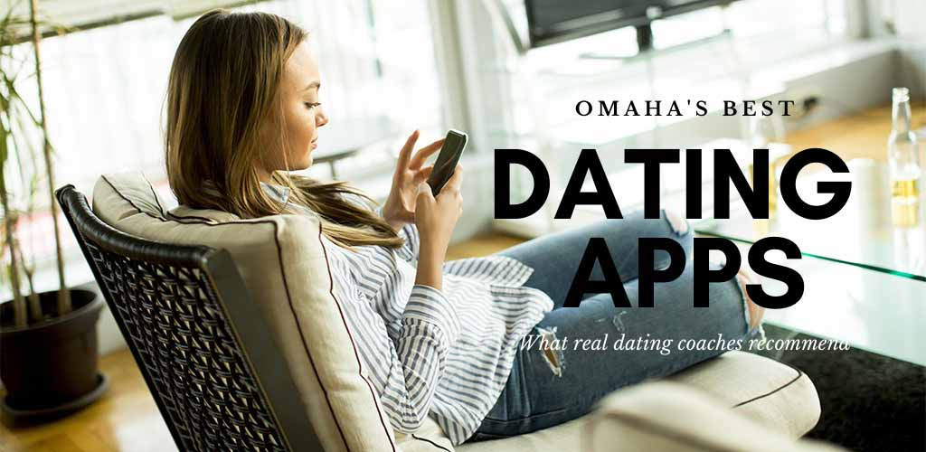 Girl in ripped jeans texting and trying out the best dating apps and sites in Omaha
