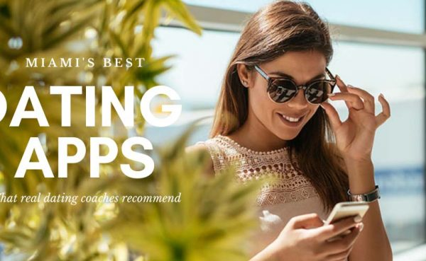 Girl in sunglasses trying out some of the best dating apps and sites in Miami