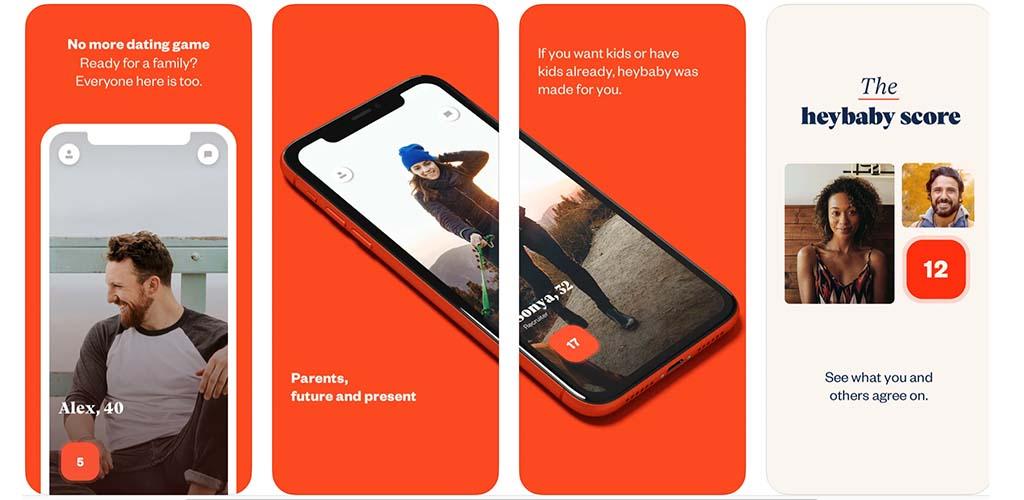 Heybaby app sample screenshots