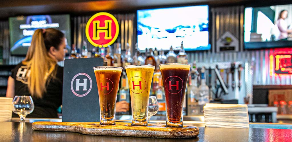 Beers from Hub Bar & Grille