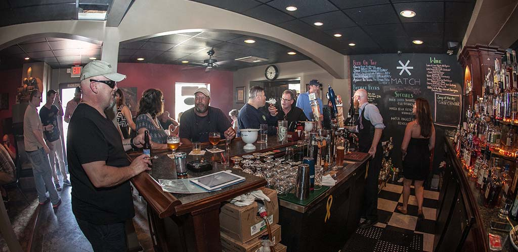 Happy hour at Match Cigar Bar