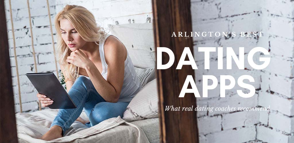 Trying out the best dating apps and sites in Arlington, Texas on her tablet