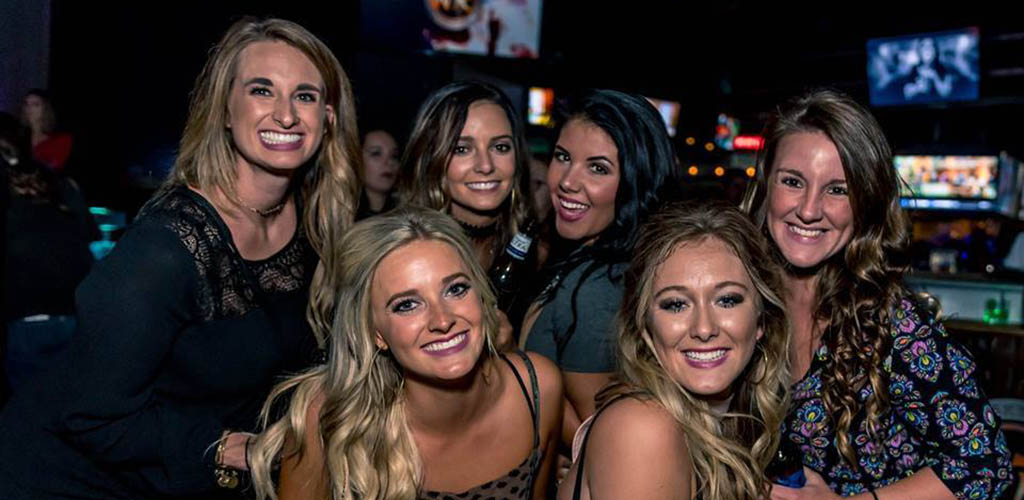 A group of single women at Whisky River