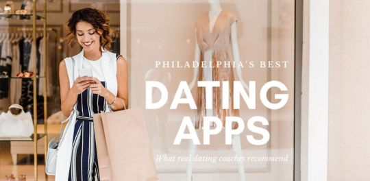 Woman at a boutique checking out the best dating apps in Philadelphia