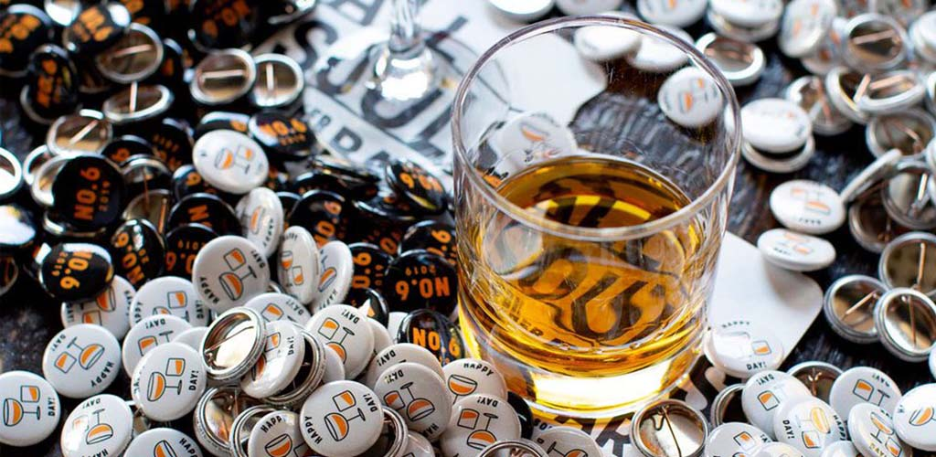 All Souls drinks and buttons