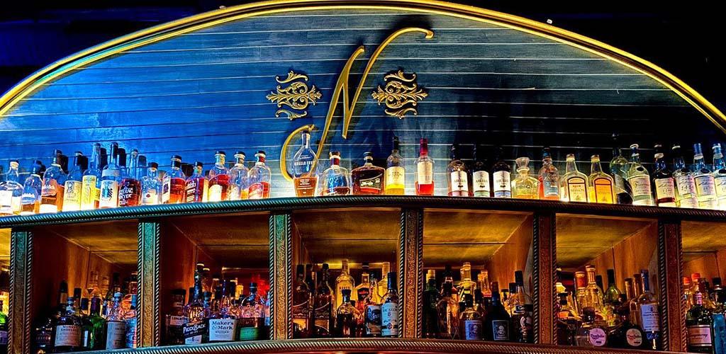 The nautical shelf at Bar Nancy