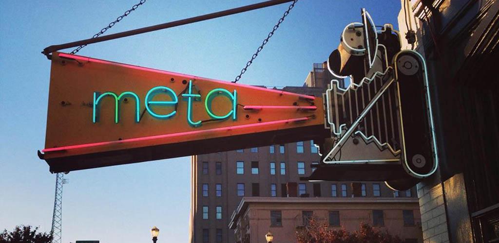 Meta main neon sign