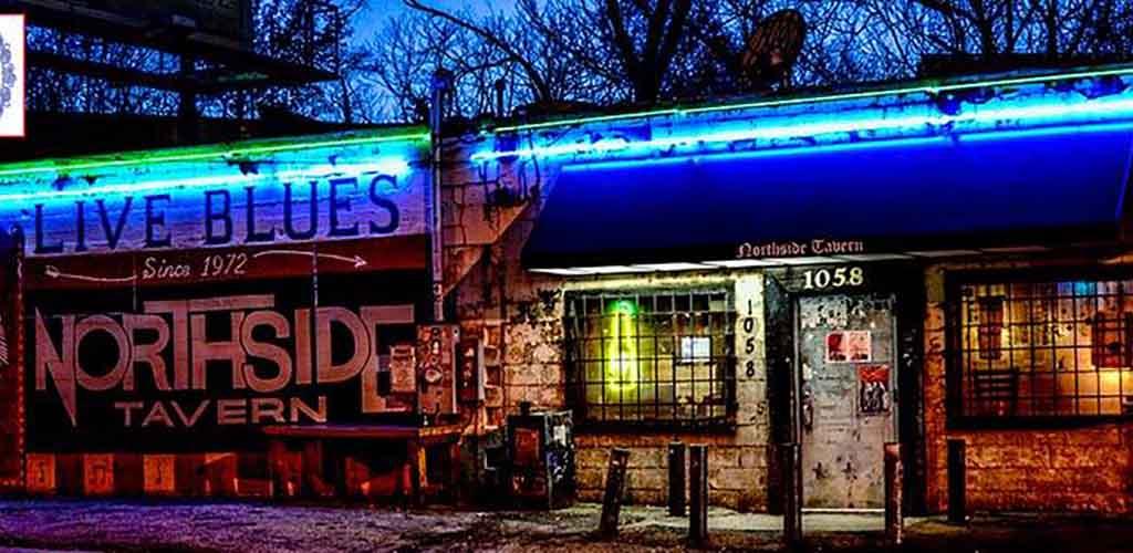 Northside Tavern at night