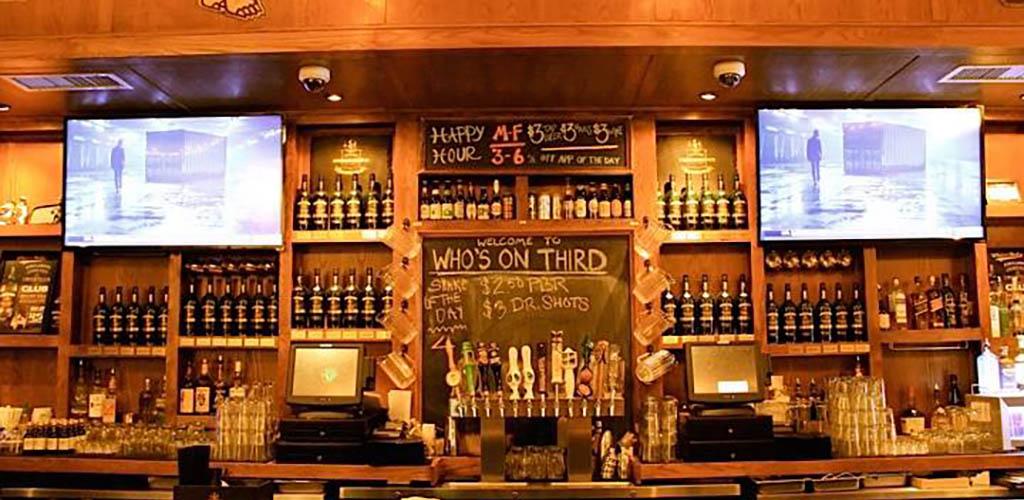 The main bar at Who's On Third