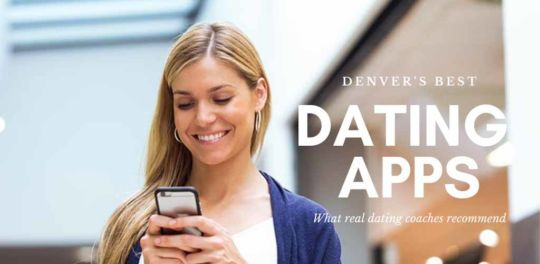 A woman checking out some of the best dating apps in Denver