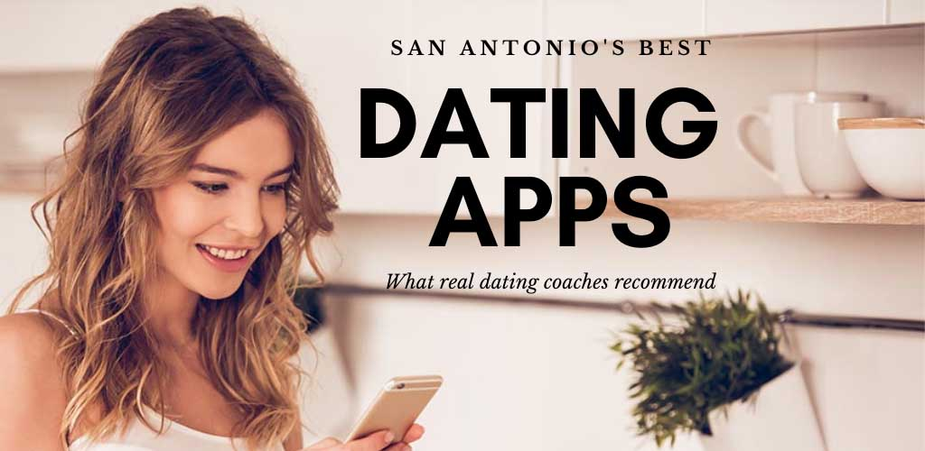 A woman testing out the best apps and sites in San Antonio