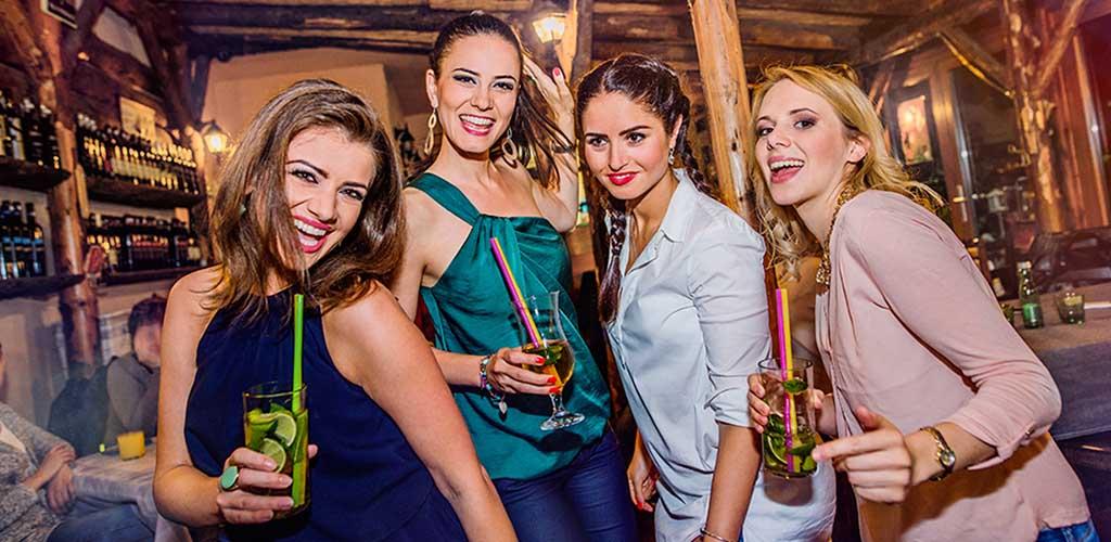 Four beautiful women having fun at an El Paso hookup bar