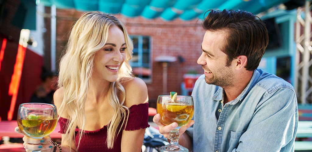 Sharp-dressed man knows how to get the girl you want by charming her during their date