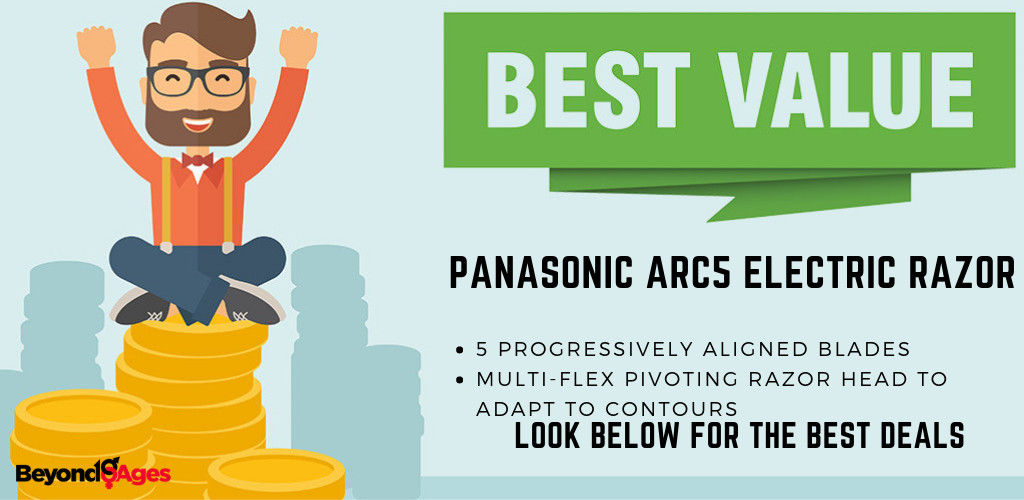 The Panasonic ARC5 Electric Razor offered the best value men's electric razor for a close shave
