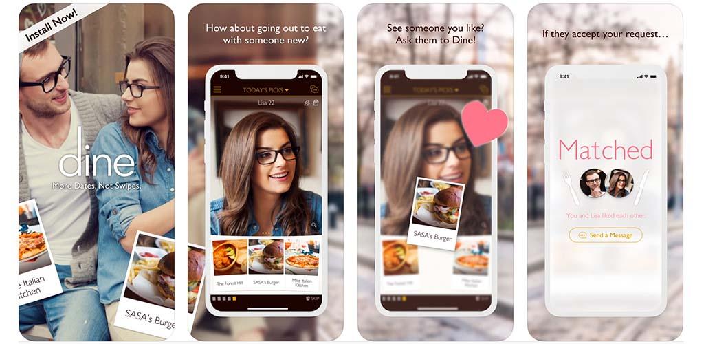 Dine app interface