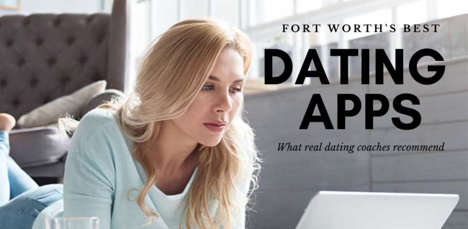 Pretty woman checking out the best dating apps and sites in Fort Worth