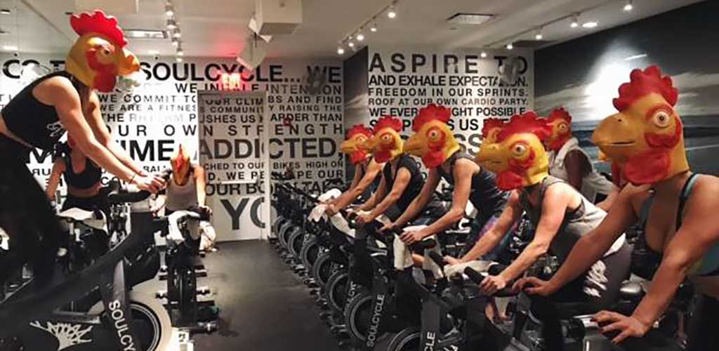 A themed spin class at Soul Cycle