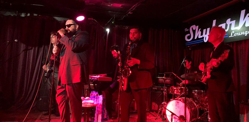 A live jazz performance at The Skylark Lounge